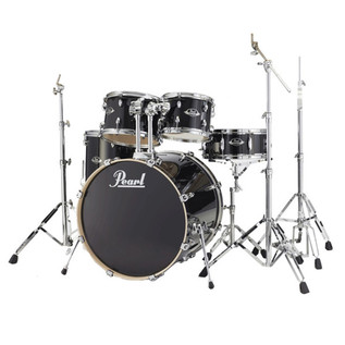 Pearl EXL Export Lacquer 20'' Fusion Drum Kit, Black Smoke