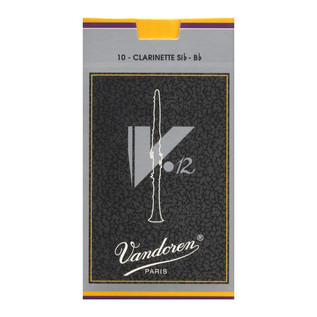 Vandoren V12 Bb Clarinet Reed, Strength 3.5+ (10 Pack)