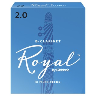 Royal by D'Addario Bb Clarinet Reeds 2.0 Strength, Pack of 10