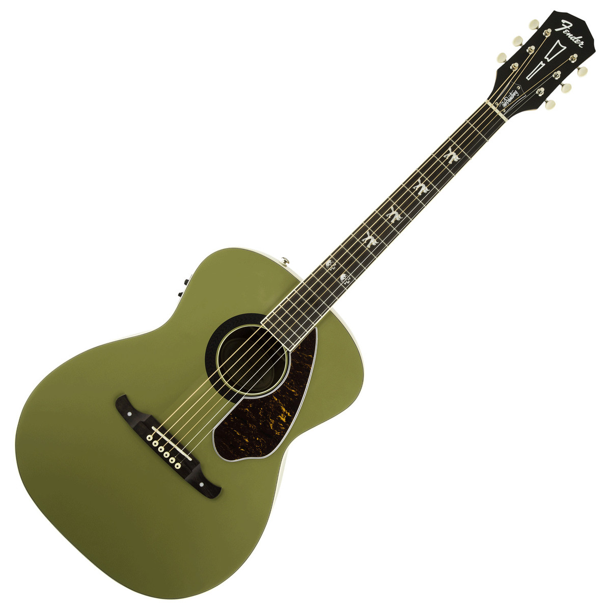 fender tim armstrong hellcat electro acoustic guitar honor green at. Black Bedroom Furniture Sets. Home Design Ideas