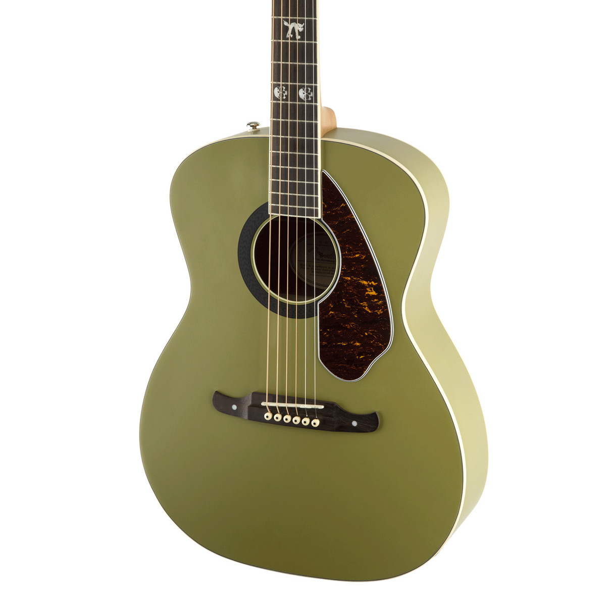 Fender tim armstrong hellcat electro acoustic guitar honor green at