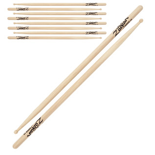 Zildjian Super 7A Wood Tip Drumsticks, 4 Pack