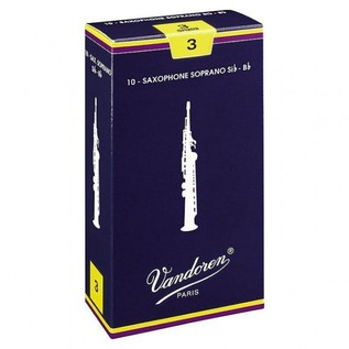 Vandoren Traditional Soprano Saxophone Reeds Strength 3.0 (10 Pack)