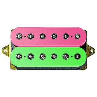DiMarzio DP159 Evolution Bridge F Spaced Humbucker, Pink/Green
