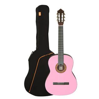 Ashton SPCG12 1/2 Size Classical Guitar Starter Pack, Pink