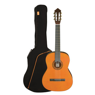 Ashton SPCG44L Left Handed Full Size Classical Guitar Pack, Amber