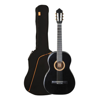 Ashton SPCG44 Full Size Classical Guitar Starter Pack, Black