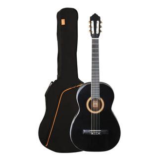 Ashton SPCG44 Full Size Classical Guitar Starter Pack, Black