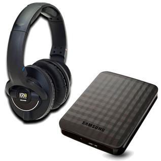 KRK KNS 8400 Headphones and Storage Bundle, 1TB