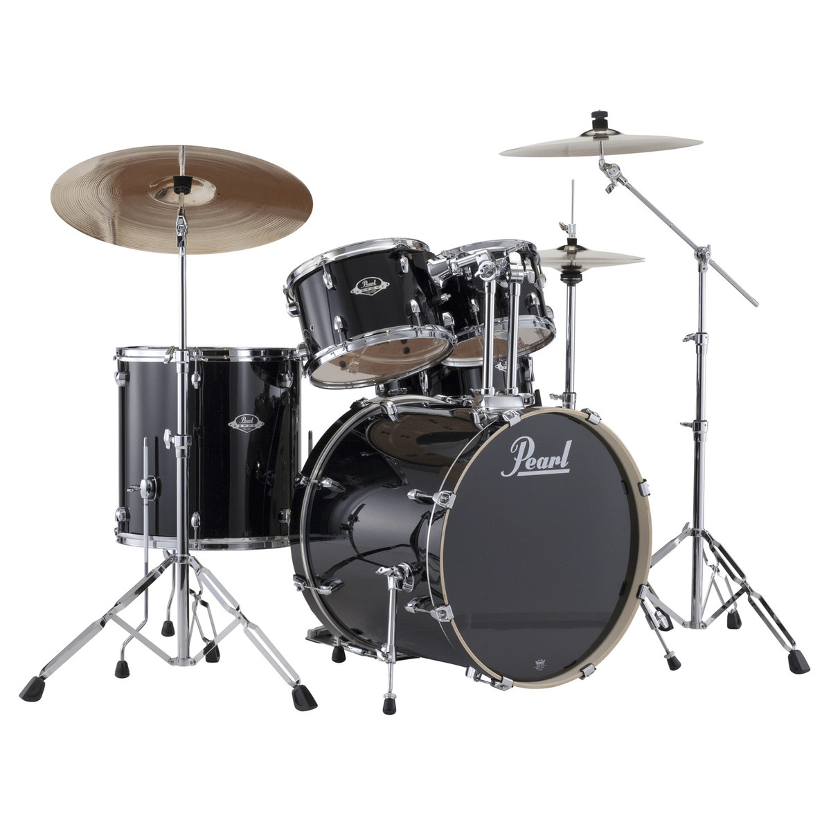 pearl export exx 22 39 39 american fusion drum kit jet black nearlynew at. Black Bedroom Furniture Sets. Home Design Ideas