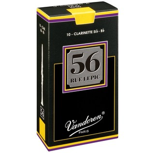Vandoren 56 Rue Lepic Bb Clarinet Reed, Strength 3.5 (10 Pack)