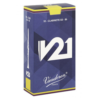 Vandoren V21 Bb Clarinet Reed, Strength 3.5+ (10 Pack)