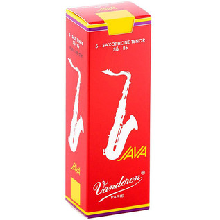 Vandoren Java Red-Cut Tenor Saxophone Reeds, Strength 3.0 Box of 5