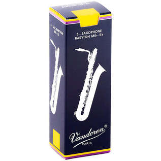 Vandoren Baritone Saxophone Reeds, Strength 3.5 Box of 5