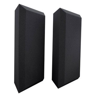 Ultimate Acoustics Pro Bass Traps Bevel Edge x 2, Charcoal
