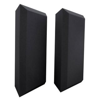Ultimate Acoustics Pro Bass Traps Bevel Edge x 2, Charcoal