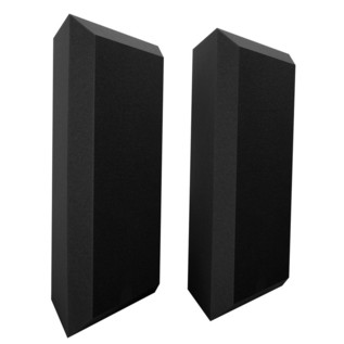 Ultimate Acoustics Pro Bass Traps Bevel Edge with Vinyl x 2, Charcoal