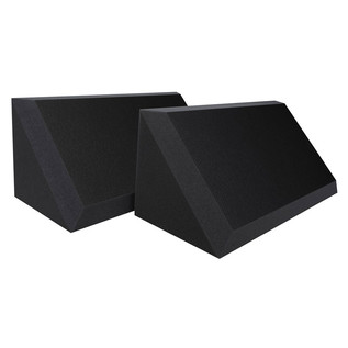 Ultimate Acoustics Pro Bass Traps Bevel Edge with Vinyl x 2, Charcoal - Side View