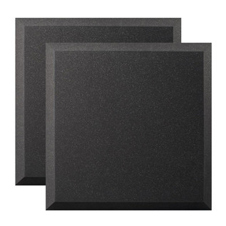 Ultimate Acoustics Bevel Studio Foam 24x24x2'' x2, Charcoal