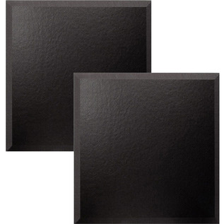 Ultimate Acoustics Bevel Studio Foam w/ Vinyl 24x24x2'' x2, Charcoal