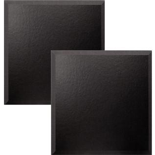 Ultimate Acoustics Bevel Studio Foam w/ Vinyl 24x24x2'' x2, Charcoal