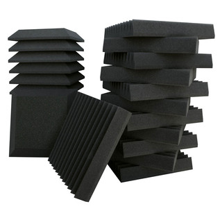 Ultimate Acoustics Bevel/Bevel Vinyl 12x12x2'' x24 + Bass Traps