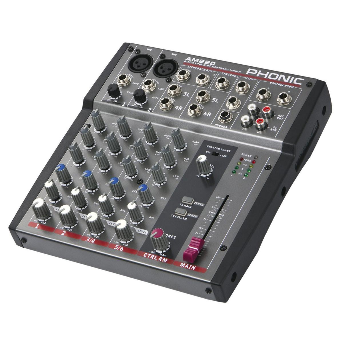 phonic am220 analog mixer at. Black Bedroom Furniture Sets. Home Design Ideas