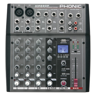 Phonic AM220P Analog Mixer With USB Player