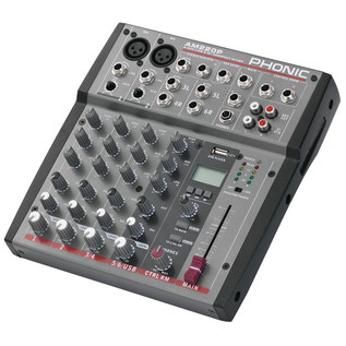 Phonic AM220P Analog Mixer With USB Player - Side View