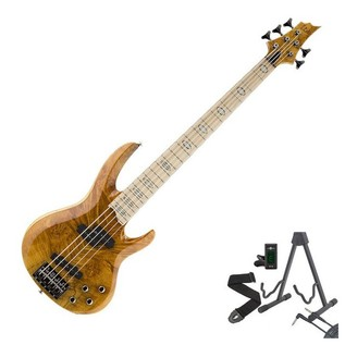 ESP LTD RB-1005BM 5-String Bass Guitar, Honey Natural + Free Gifts