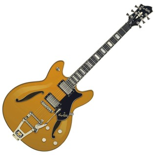 Hagstrom Tremar Viking Deluxe Semi-Hollow Guitar, Metallic Gold