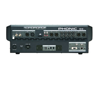 Phonic ISI6 Digital Mixer With Colour Touch Screen and VGA Output - Rear View