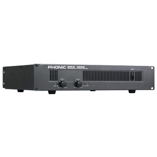 Phonic MAX 1000 Powered Amplifier - Side View