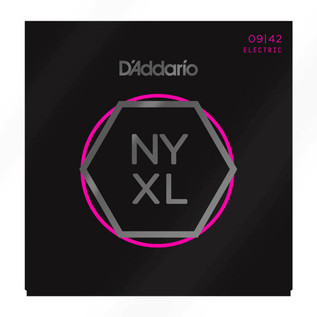 D'Addario NYXL Electric Guitar Strings Super Light 09 - 42, 3 Pack