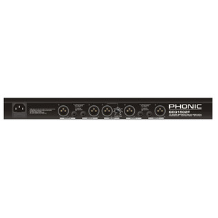 Phonic GEQ1502F Stereo Graphic Equalizer - Rear View