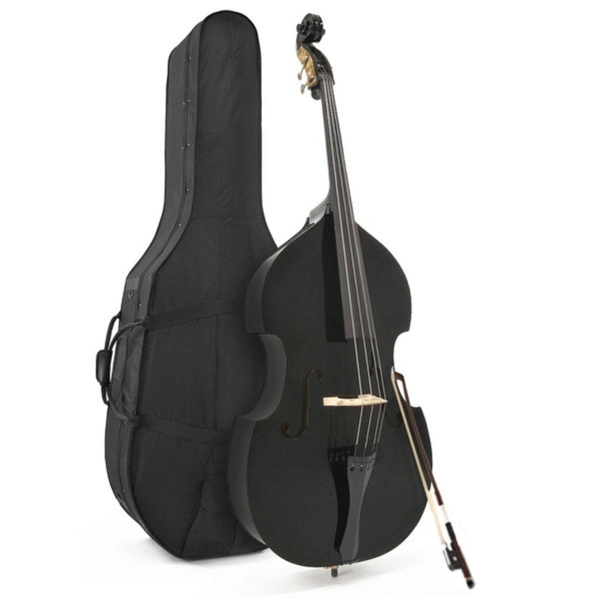 Image of Student 3/4 Double Bass Black by Gear4music