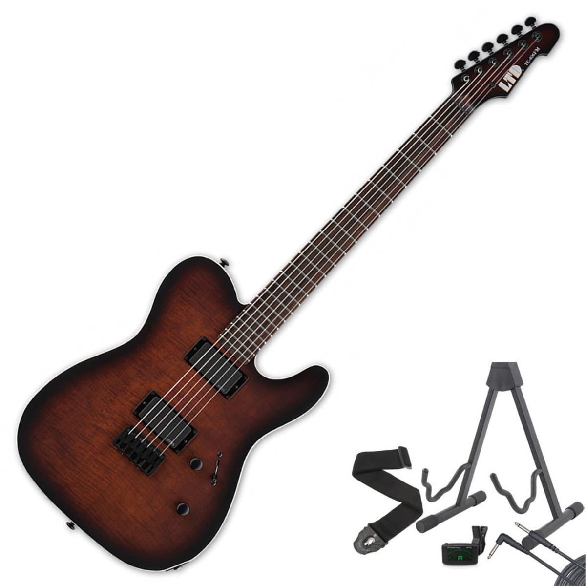 disc esp ltd te 406fm guitar dark brown sunburst satin free gifts at. Black Bedroom Furniture Sets. Home Design Ideas