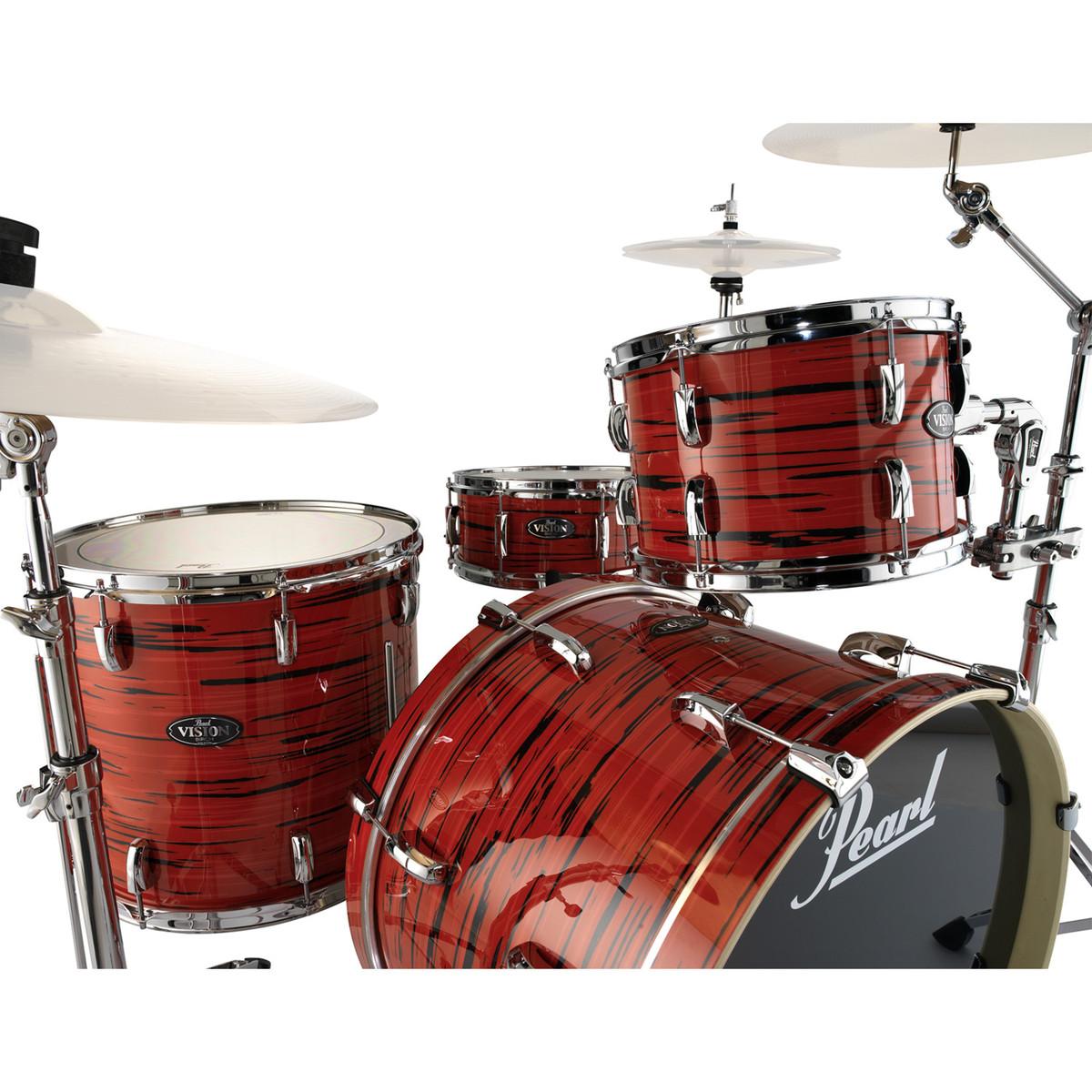 pearl vision birch vba ltd edition 22 39 39 drum kit tiger red at. Black Bedroom Furniture Sets. Home Design Ideas
