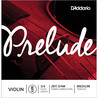 D'Addario Prelude Violin E String 3/4 Scale, Medium Tension