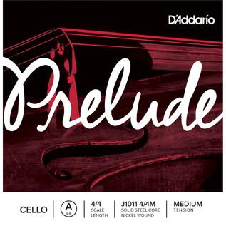 D'Addario Prelude Cello A String 4/4, Medium Tension