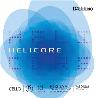 D'Addario Helicore Cello D String 4/4 Medium Tension