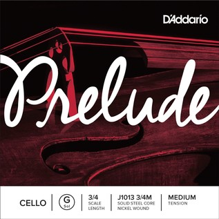 D'Addario Prelude Cello G string 3/4 Scale Medium Tension