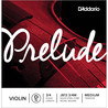 D'Addario Prelude Violin D String 3/4 Scale, Medium Tension