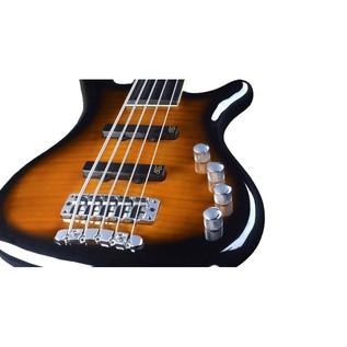 Warwick Rockbass Corvette Classic 5-String Bass, Fretless, Sunburst