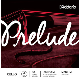 D'Addario Prelude Cello A String 1/2 Scale Medium Tension