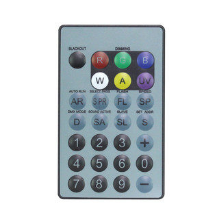 LEDJ IR Remote for LEDJ HEX Fixtures (RGBWAUV)