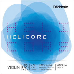 D'Addario Helicore Violin Single D String 4/4 Medium Tension
