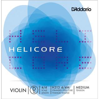 D'Addario Helicore Violin Single D String 4/4 Medium Tension