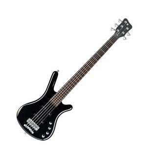 Warwick Rockbass Corvette 5-String Bass, Medium, Black High Polish