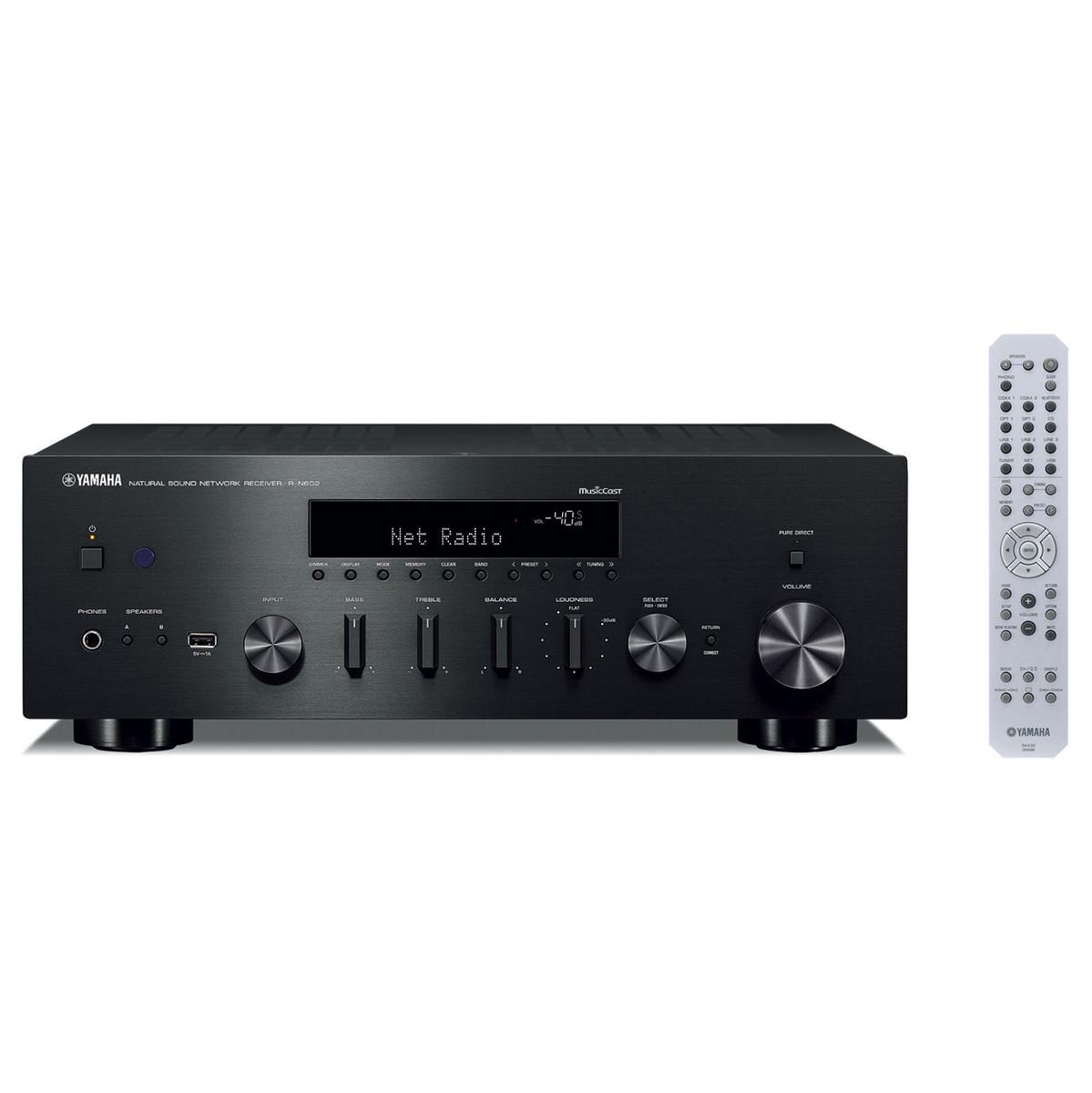 Yamaha RN602 Hi-Fi Network Receiver with MusicCast Black